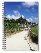 Sandy Trail Miami Florida Spiral Notebook