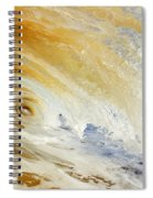 Sandy Wave Crashing Spiral Notebook
