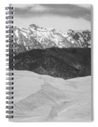 Sangre De Cristo Mountains And The Great Sand Dunes Bw Spiral Notebook