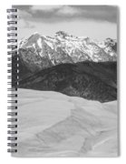 Sangre De Cristo Mountains And The Great Sand Dunes Bw V Spiral Notebook