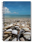 Sanibel Island Sea Shell Fort Myers Florida Broken Shells Spiral Notebook