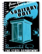 Sanitary Unit Fap Poster Spiral Notebook