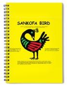 Sankofa Bird Of Knowledge Spiral Notebook