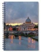 Sant Angelo Bridge At Dusk Spiral Notebook