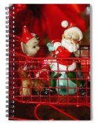 Santa And His Elves Spiral Notebook