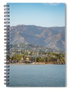 Santa Barbara Coastline From The Water Spiral Notebook