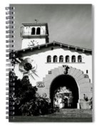 Santa Barbara Courthouse Black And White-by Linda Woods Spiral Notebook
