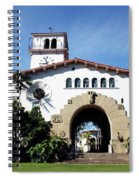 Santa Barbara Courthouse -by Linda Woods Spiral Notebook