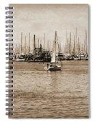 Santa Barbara Harbor Sepia Spiral Notebook