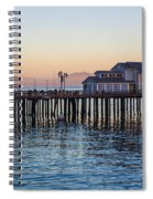 Santa Barbara Wharf At Sunset Spiral Notebook