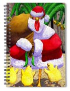 Santa Chicken Spiral Notebook