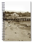 Santa Cruz Beach With Ideal Fish Restaurant 1930's Spiral Notebook