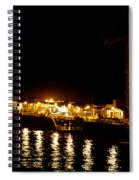 Santa Cruz Pier At Night Spiral Notebook