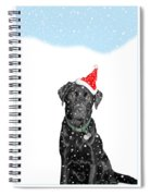 Santa Dog In The Snow Spiral Notebook