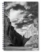 Santa Elena Canyon Black And White Spiral Notebook