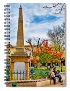 Santa Fe Obelisk A Pigeon And An Accordian Player Spiral Notebook