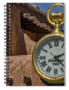 Santa Fe Plaza Clock Spiral Notebook