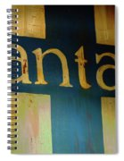 Santa Fe Vintage Sign Spiral Notebook