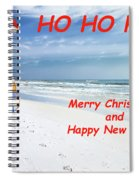 Santa Merry Christmas And Happy New Year Card Spiral Notebook