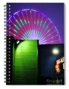 Santa Monica Pier After Dark Spiral Notebook