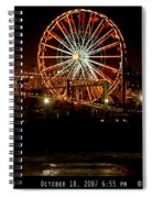 Santa Monica Pier October 18 2007  Spiral Notebook
