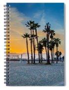 Santa Monica Sunset Spiral Notebook