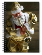 Santa Playing The Saxaphone Spiral Notebook