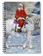 Santa Rides To Town Spiral Notebook