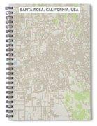 Santa Rosa California Us City Street Map Spiral Notebook