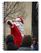 Santa Says Hello Spiral Notebook