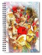 Santa Scene 1 Spiral Notebook