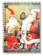 Santa Scene 2 Spiral Notebook