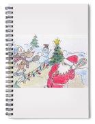 Santa Slam Spiral Notebook