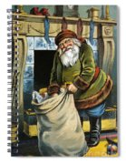 Santa Unpacks His Bag Of Toys On Christmas Eve Spiral Notebook