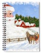 Santas Beard Spiral Notebook