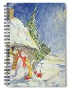 Santa's Visit Spiral Notebook