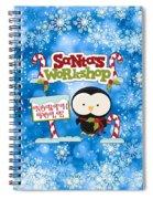 Santa's Workshop Penguin Spiral Notebook