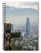 Santiago Chile Panoramic Spiral Notebook