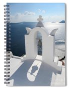 Santorini Bell Tower Casts Shadow Spiral Notebook