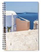 Santorini Blue House In Oia Spiral Notebook
