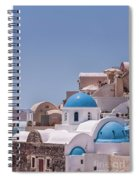 Santorini Church In Oia Spiral Notebook