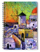 Santorini Colors Spiral Notebook