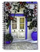 Santorini Doorway 1 Spiral Notebook