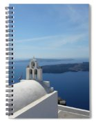 Santorini Greece Spiral Notebook