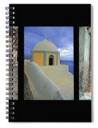 Santorini Memories Spiral Notebook