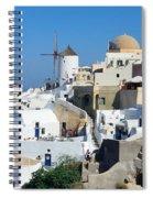Santorini Oia Spiral Notebook