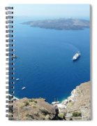 Santorini Old Port At Fira Spiral Notebook