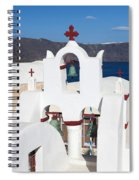 Santorini White Spiral Notebook