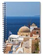 Santorini Windmill And Church Spiral Notebook