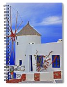 Santorini Windmills Spiral Notebook
